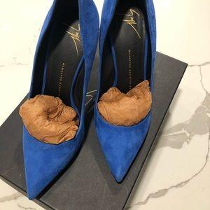 GIUSEPPE ZANOTTI WOMEN'S BLUE HEELS